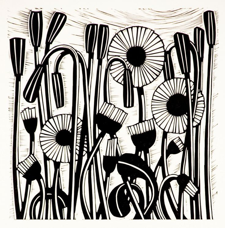 Helen Roddie, UK artist, makes GORGEOUS linocuts.