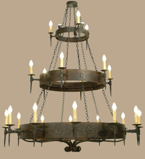 Best 7 rustic western chandeliers images on pinterest chandelier warick 21 light 3 tier old worldgothic chandelier mozeypictures Images