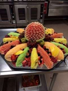 Canadian Honker Events at Apache; Rochester, MN #fruitdisplay #fruitcarving