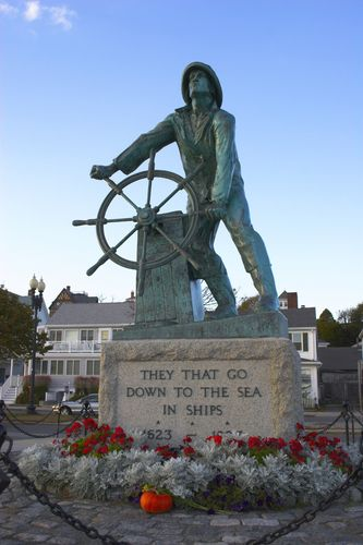 Gloucester, Ma~ The Fisherman's Statue to honor all those who are lost at sea. - Also where the Perfect Storm was filmed.