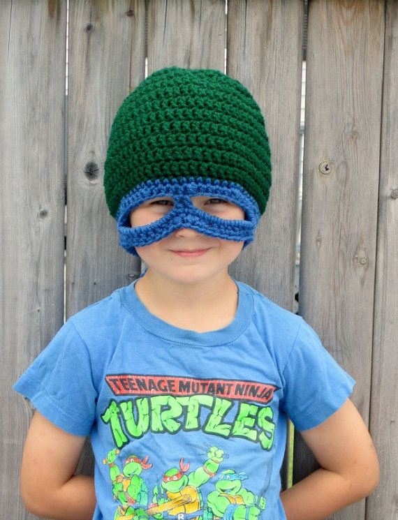 TurtleHero Hat/Mask 4TAdult by KaleidoscopeArtGifts on Etsy, $16.00