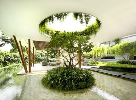 Casa de Sauce: Oasis de Singapur Trae el Al aire libre