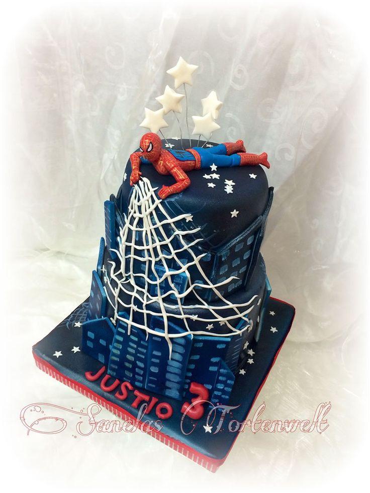 spiderman kindergeburtstags torte birthday cakes kids sanelas tortenwelt pinterest torte. Black Bedroom Furniture Sets. Home Design Ideas