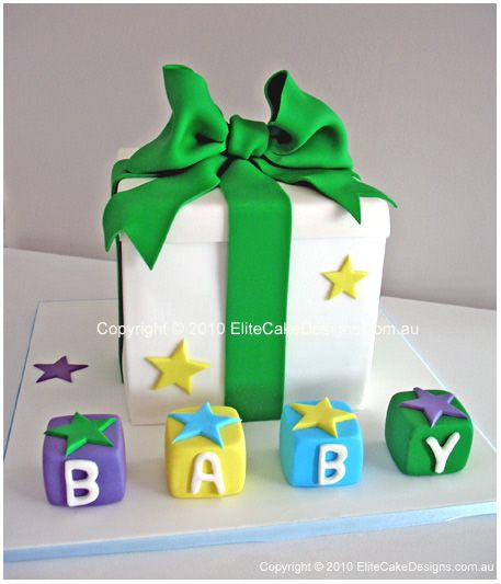 305 Best Images About Bow/Gift Cakes On Pinterest