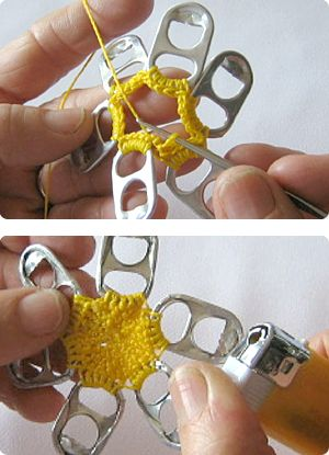 Crochet a Flower With Pull Tabs and more