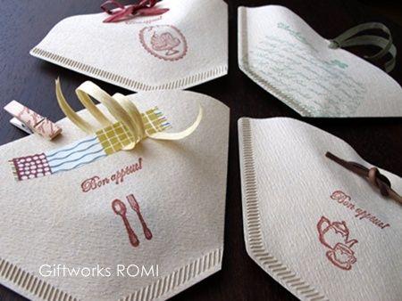 $簡単エコラッピング ~Giftworks ROMI~-コーヒーフィルター