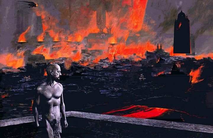 Barlowe's Inferno – (from Barlowe's Inferno – acrylic on panel) http://waynebarlowe.wordpress.com/artwork/hell/