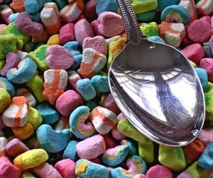 "Cereal Marshmallows - Now you don't have to waste any time picking through your cereal because you can have a tasty bowl of ""just marshmallows"" for breakfast. $11.99 on amazon.com"