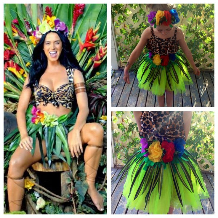 My easy no sew diy version of Katy Perry's Roar costume ...