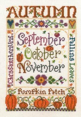 cross stitch seasons | ... imaginating cross stitch patterns kits the four seasons cross stitch