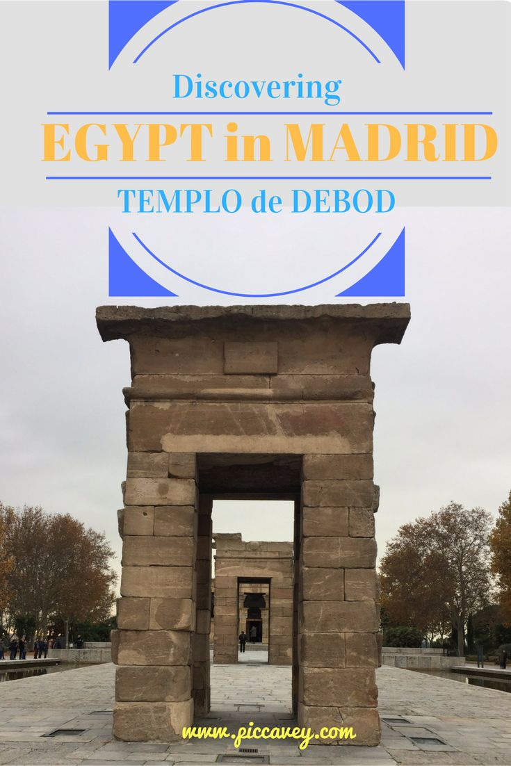 Templo de Debod, Madrid, Spain - An Ancient Egyptian Temple in the Spanish Capital Monument close to Plaza España