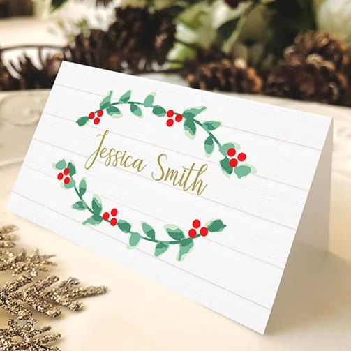 Free Christmas Place Card Diy Christmas Decor Printable Christmas Place Card Place Card Christmas Place Cards Holiday Place Cards Christmas Place Cards Diy
