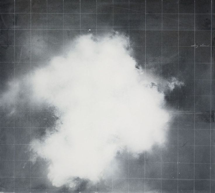 Tacita Dean, Why cloud, 2016. Spray chalk, gouache and charcoal pencil on slate.