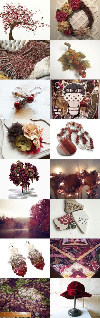 Burgundy Reigns by Bev on Etsy--Pinned+with+TreasuryPin.com