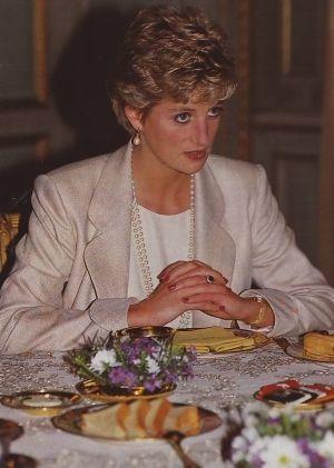 October 25, 1993: Princess Diana at European Parliament, Brussels.