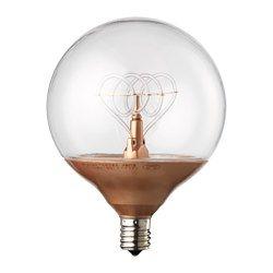 IKEA - NITTIO, LED-Lampe E14 20 lm, Leuchtdioden verbrauchen ca. 85 % weniger Energie und halten 20-mal länger als Glühlampen.Erzeugt ein freundlich-dekoratives Licht.