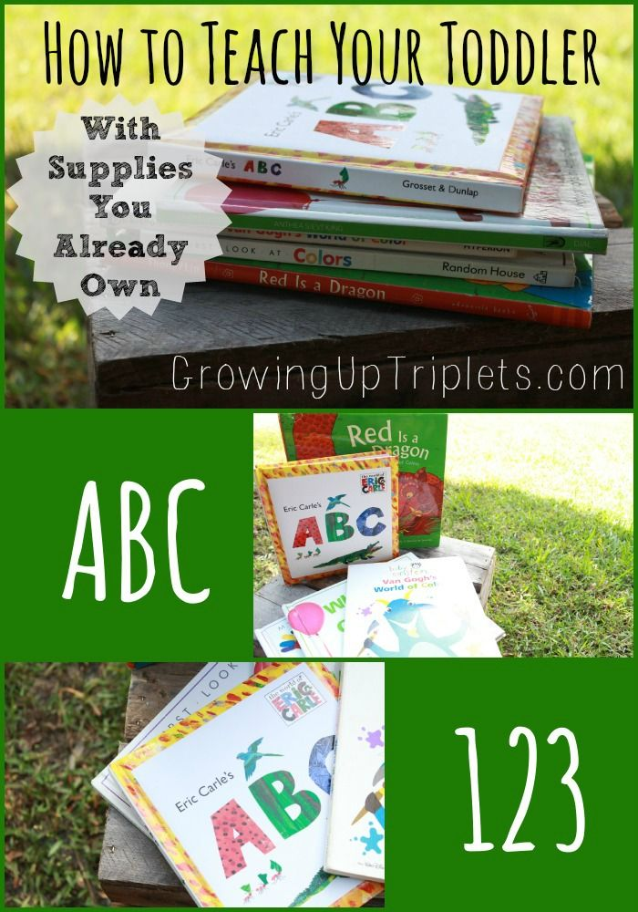 How to Teach Your Toddler with Supplies You Already Own     l    www.GrowingUpTriplets.com #toddler #preschool