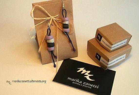 orecchini lilla fatti a mano limited edition di LaBottegadimarika