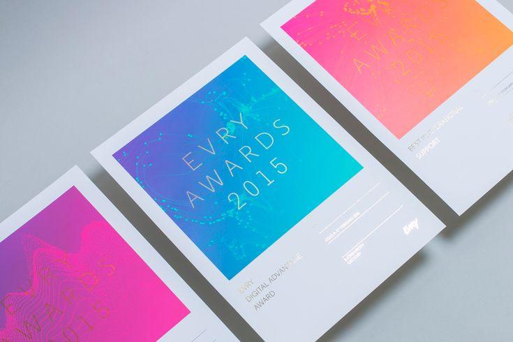 EVRY - Digital foil printed diplomas. Designed by Mission