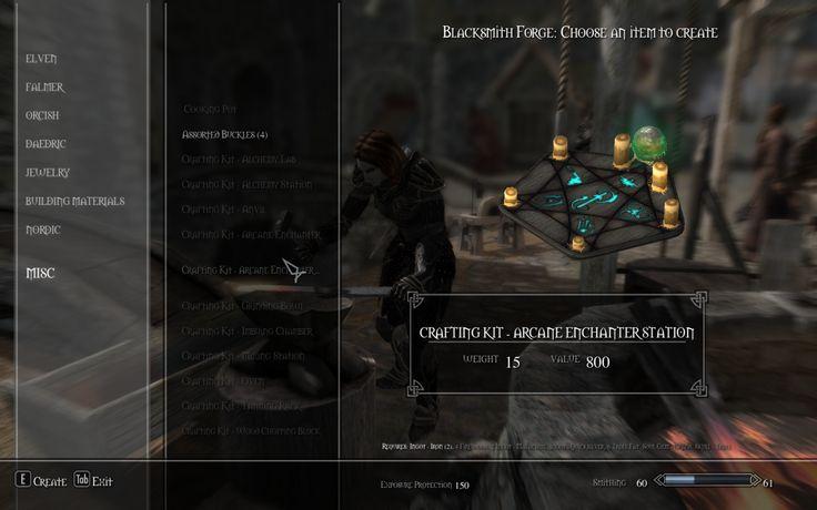 Skyrim Crafting Arrows Mod