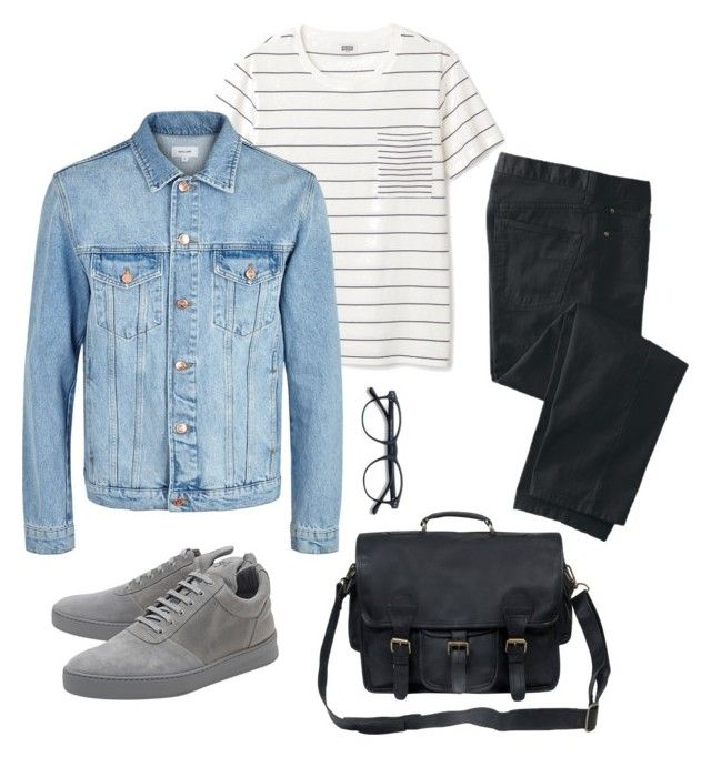 sporty men's look by saskyyy on Polyvore featuring TravelSmith, Soulland, Filling Pieces, men's fashion and menswear