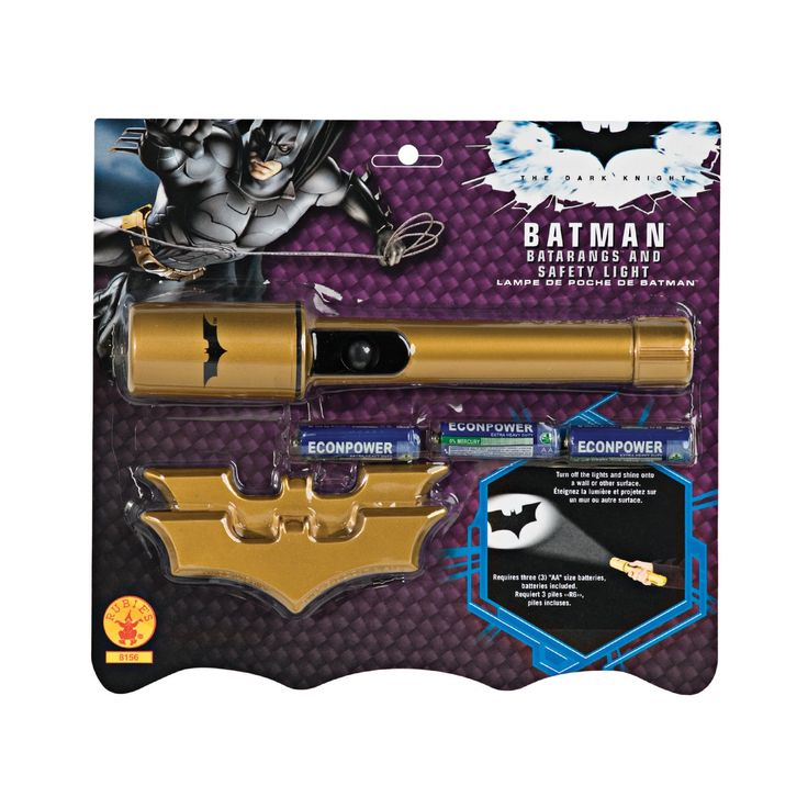 Cool Costume Accessories Batman Batarangs and Safety Light just added...
