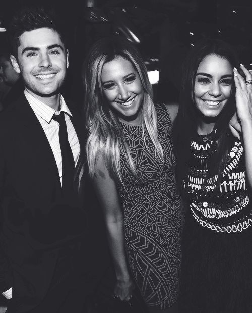 Vanessa Hudgens, Ashley Tisdale and Zac Efron at Spring Breakers Premiere in Los Angeles.