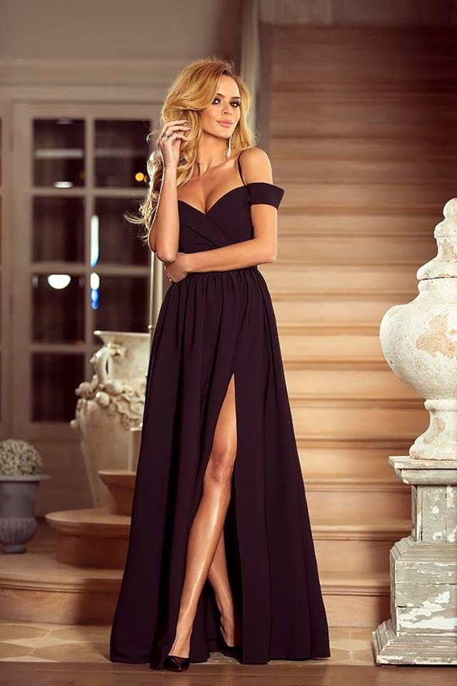 Elegancka Dluga Suknia Caroline Czarna Dresses Prom Dresses Formal Dresses