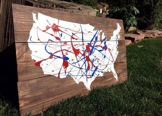 This United States Cut Out Sign is made by our artisans in Colorado Springs  from reclaimed - 17 Best Images About Reclaimed Wood Projects On Pinterest