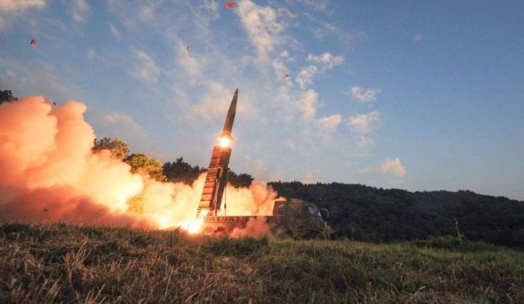 "In this photo provided by South Korea Defense Ministry, South Korea's Hyunmoo II ballistic missile is fired during an exercise at an undisclosed location in South Korea on Sept. 4, 2017. In South Korea, the nation's military said it conducted a live-fire exercise simulating an attack on North Korea's nuclear test site to ""strongly warn"" Pyongyang over the latest nuclear test.   MORE..."