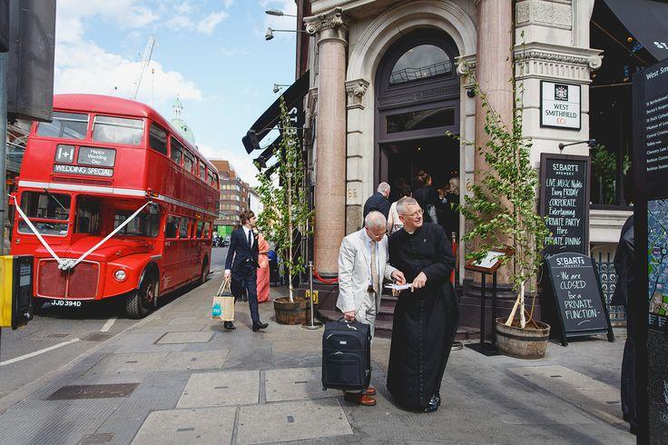 St.Bart's Brewery Wedding in London www.kirstenmavric.co.uk
