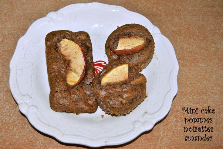 Mini cake pommes noisettes amandes