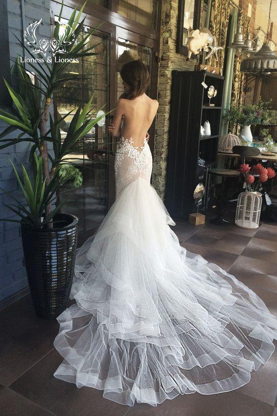 Wedding dress, lace wedding dress, unique wedding dress, sexy wedding dress !!! Only 1 available!!! Size 84-64-92 - PRICE 2,900.00 EUR