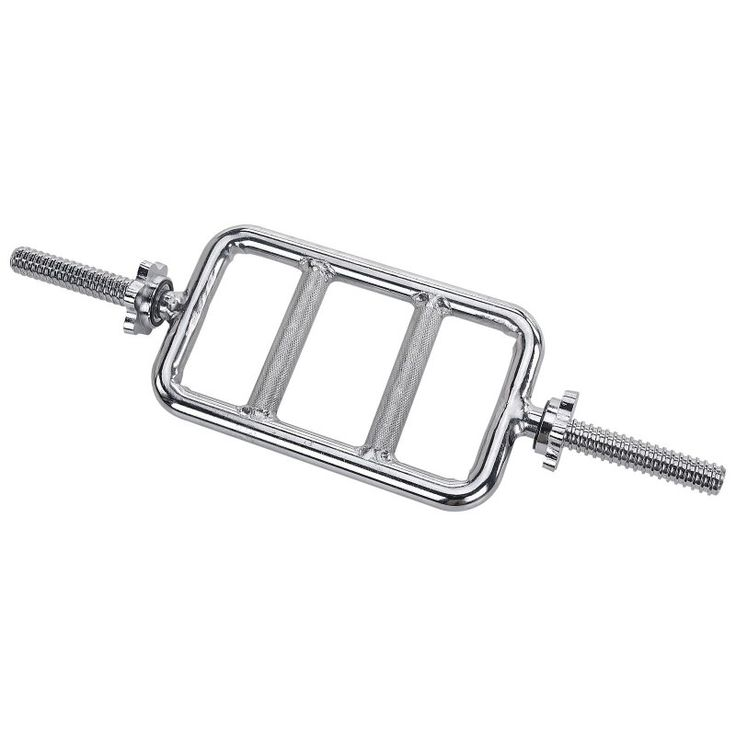 Sunny Health & Fitness 24 in. Threaded Solid Chrome Tricep Bar - STTB-24