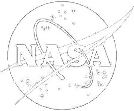 Nasa logo coloring page School
