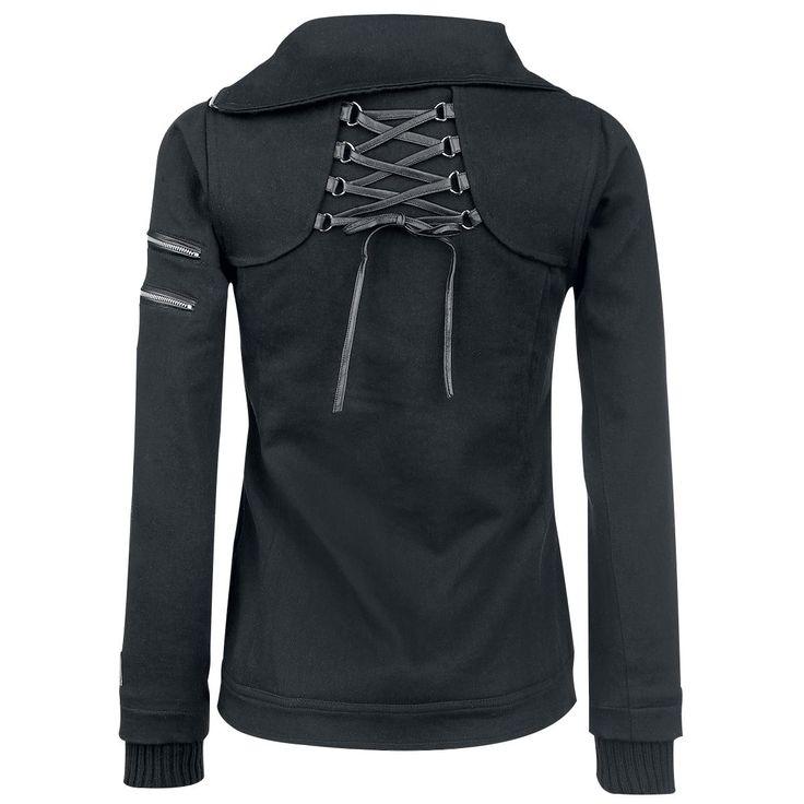 """Vixxsin Vest met capuchon, Vrouw """"Wolven Jacket"""" zwart • Large"""