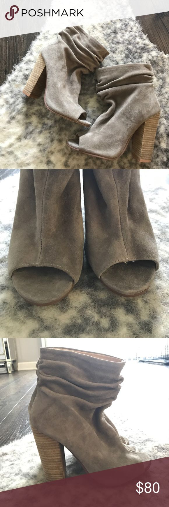 Kristin Cavalari Chinese Laundry Grey Suede Boots Purchased from Nordstrom Rack! NWOB, open to offers! Fits like a size 6 Chinese Laundry Shoes Ankle Boots & Booties