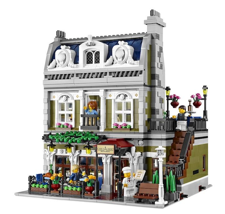 LEGO's Beautifully Detailed Parisian Restaurant - My Modern Metropolis