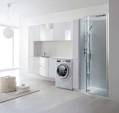 Un elegante locale da adibire a lavanderia