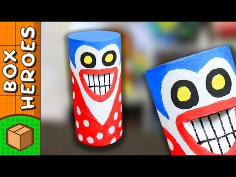 The Prankster - DIY Paper Roll Crafts | Box Heroes on Box Yourself - YouTube
