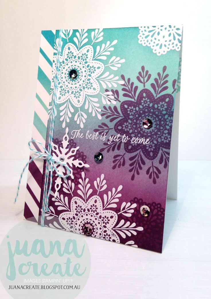 Juan Ambida Independent Stampin' Up!® Demonstrator Australia: Frosted Medallions Best Wishes - International Blog Highlight