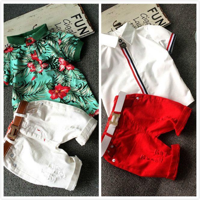 NOVO conjunto de roupas crianças 2 pcs T shirt de algodão do bebê calças curtas conjunto de roupas crianças menino verão dos desenhos animados roupas set 2 cores 2 7 T em Conjuntos de roupas de Mãe & Kids no AliExpress.com | Alibaba Group