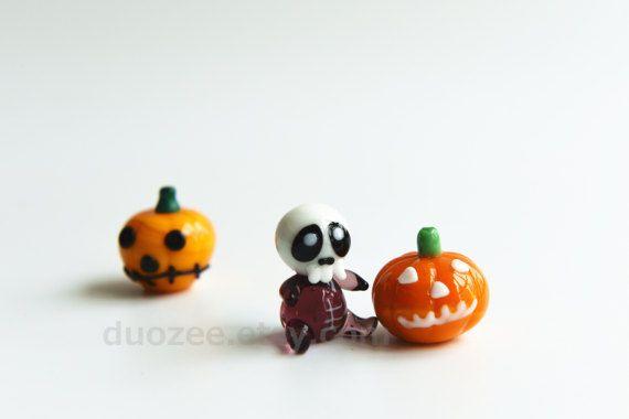 Halloween Miniatures Handmade Collectible Lampwork Glass