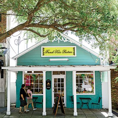 Ocean Springs, Mississippi. Lined with live oaks, Washington Avenue hums with busy shops and restaurants. | Coastalliving.com