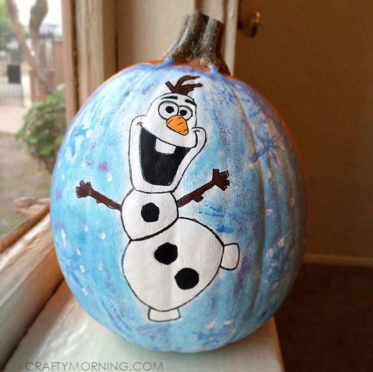 Amazing Disney Frozen Pumpkin Ideas - Crafty Morning