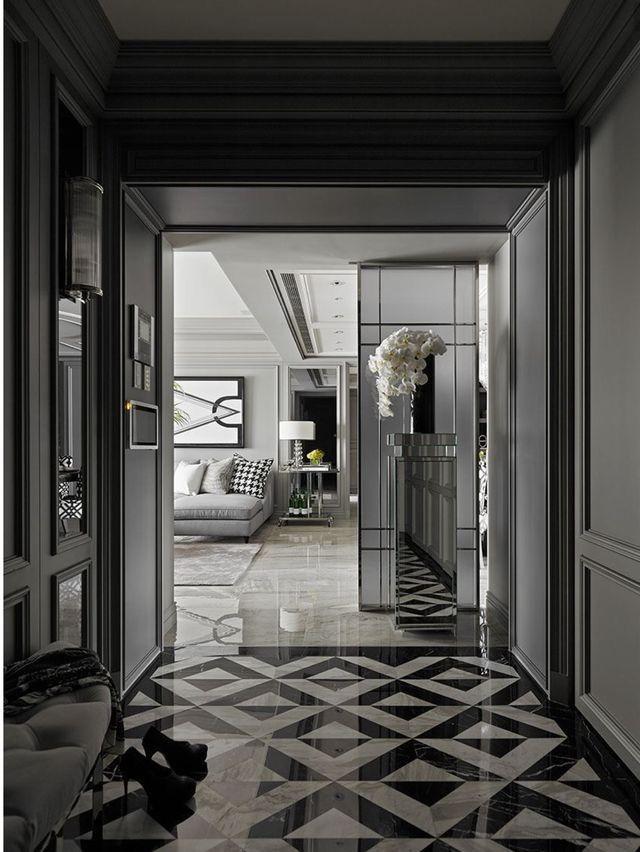 Black And White Decor Simple And Elegant Neoclassical Interior