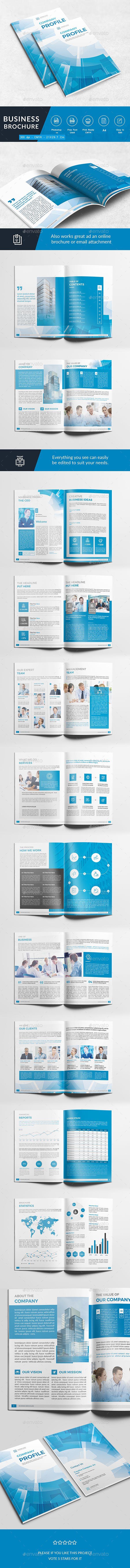 Company Profile  — PSD Template #inspiration #proposal #annual report • Download ➝ https://graphicriver.net/item/company-profile/18600050?ref=pxcr