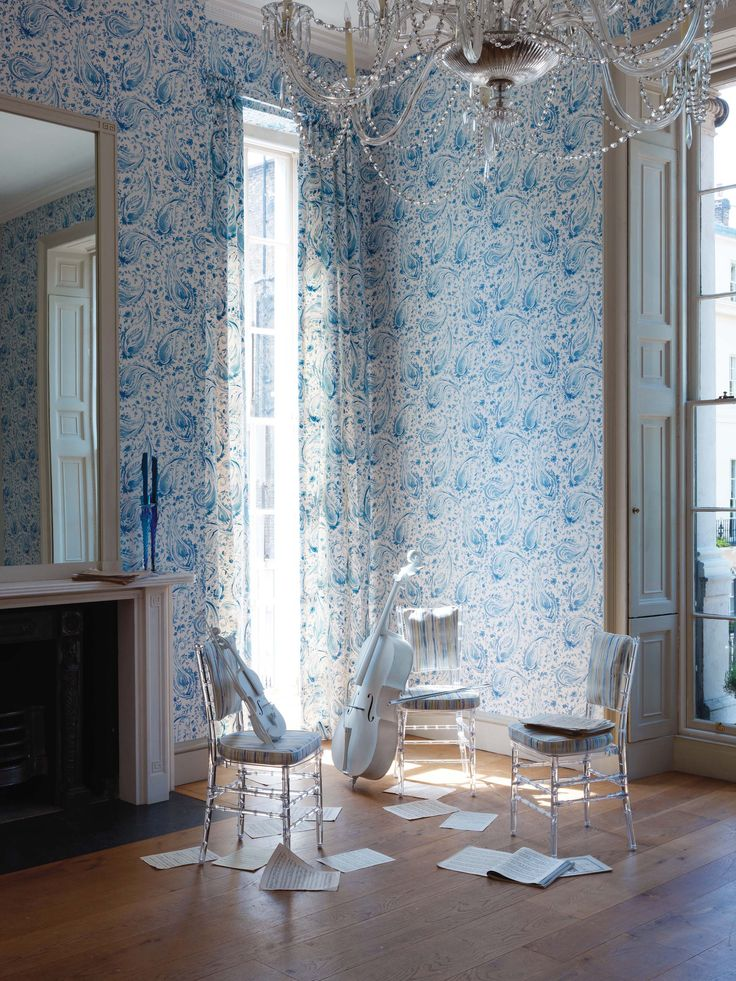 Pamir collection by Nina Campbell - available from Rodgers of York #interiors #wallpaper