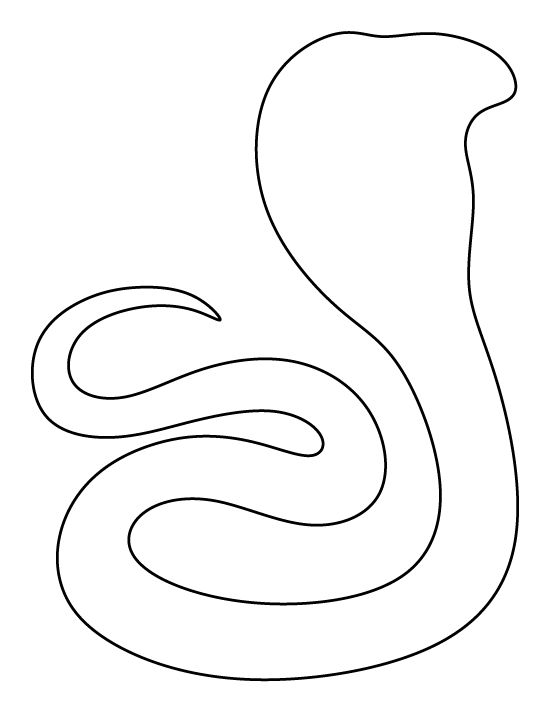 Cobra pattern. Use the printable outline for crafts