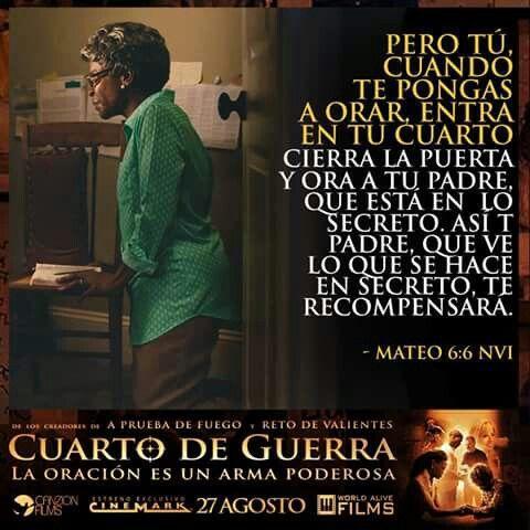 Mateo 6:6 Mas tú, cuando ores, entra en tu aposento, y cerrada la puerta, ora a tu Padre que está en secreto; y tu Padre que ve en lo secreto te recompensará en público.♔